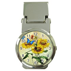 Backdrop Colorful Butterfly Money Clip Watches by Nexatart