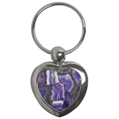 Purple Agate Natural Key Chains (heart)  by Alisyart