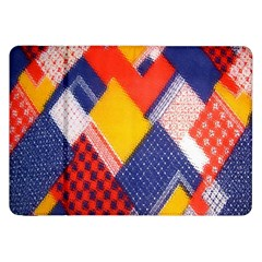 Background Fabric Multicolored Patterns Samsung Galaxy Tab 8 9  P7300 Flip Case by Nexatart