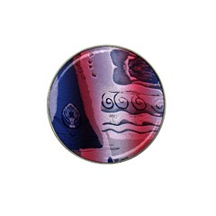 Background Fabric Patterned Blue White And Red Hat Clip Ball Marker by Nexatart