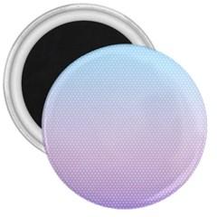 Simple Circle Dot Purple Blue 3  Magnets by Alisyart