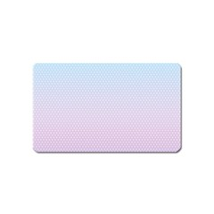 Simple Circle Dot Purple Blue Magnet (name Card) by Alisyart