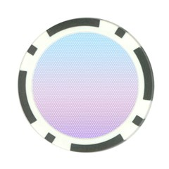 Simple Circle Dot Purple Blue Poker Chip Card Guard (10 Pack) by Alisyart