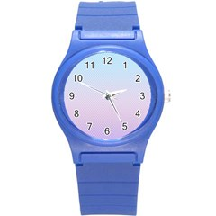 Simple Circle Dot Purple Blue Round Plastic Sport Watch (s) by Alisyart