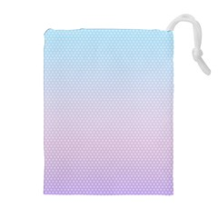 Simple Circle Dot Purple Blue Drawstring Pouches (Extra Large) by Alisyart
