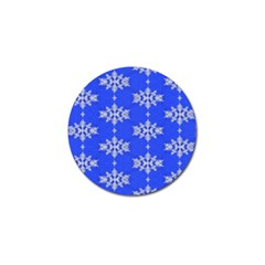 Background For Scrapbooking Or Other Snowflakes Patterns Golf Ball Marker (10 Pack)