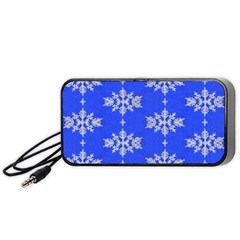 Background For Scrapbooking Or Other Snowflakes Patterns Portable Speaker (Black)