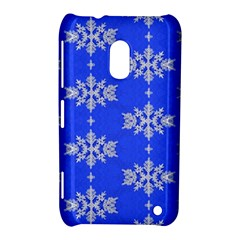 Background For Scrapbooking Or Other Snowflakes Patterns Nokia Lumia 620 by Nexatart