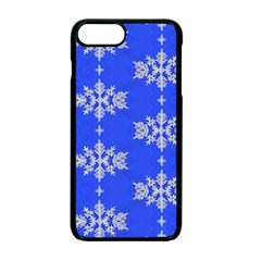 Background For Scrapbooking Or Other Snowflakes Patterns Apple iPhone 7 Plus Seamless Case (Black) by Nexatart