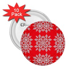 Background For Scrapbooking Or Other Stylized Snowflakes 2 25  Buttons (10 Pack)  by Nexatart