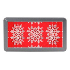 Background For Scrapbooking Or Other Stylized Snowflakes Memory Card Reader (Mini)