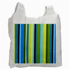 Simple Lines Rainbow Color Blue Green Yellow Black Recycle Bag (one Side) by Alisyart
