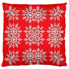 Background For Scrapbooking Or Other Stylized Snowflakes Large Flano Cushion Case (two Sides) by Nexatart