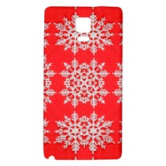 Background For Scrapbooking Or Other Stylized Snowflakes Galaxy Note 4 Back Case by Nexatart
