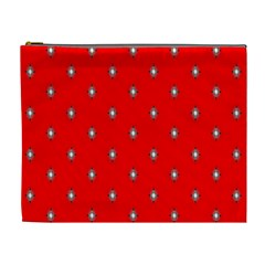 Simple Red Star Light Flower Floral Cosmetic Bag (xl) by Alisyart