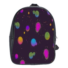 Spots Bright Rainbow Color School Bags(large)  by Alisyart