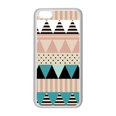 Triangle Wave Chevron Grey Apple Iphone 5c Seamless Case (white) by Alisyart