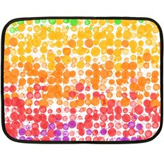 Spots Paint Color Green Yellow Pink Purple Double Sided Fleece Blanket (mini)  by Alisyart