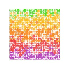 Spots Paint Color Green Yellow Pink Purple Small Satin Scarf (square) by Alisyart