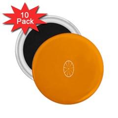 Lime Orange Fruit Fres 2 25  Magnets (10 Pack)  by Alisyart