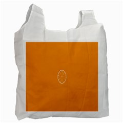 Lime Orange Fruit Fres Recycle Bag (one Side) by Alisyart