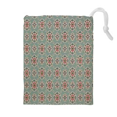 Vintage Floral Tumblr Quotes Drawstring Pouches (extra Large) by Alisyart