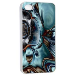 Light Color Floral Grey Apple Iphone 4/4s Seamless Case (white) by Alisyart