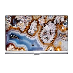 Honey Comb Agate Gold Business Card Holders by Alisyart