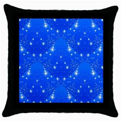 Background For Scrapbooking Or Other With Snowflakes Patterns Throw Pillow Case (black) by Nexatart