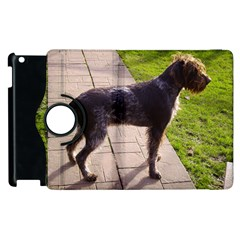 German Wirehaired Pointer Full Apple iPad 2 Flip 360 Case by TailWags