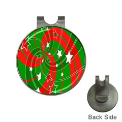 Background Abstract Christmas Hat Clips With Golf Markers by Nexatart