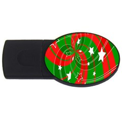 Background Abstract Christmas Usb Flash Drive Oval (4 Gb) by Nexatart