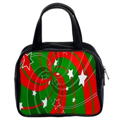 Background Abstract Christmas Classic Handbags (2 Sides) by Nexatart