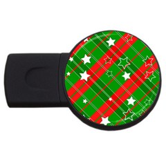 Background Abstract Christmas USB Flash Drive Round (4 GB) by Nexatart