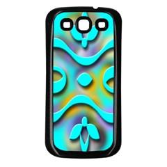 Background Braid Fantasy Blue Samsung Galaxy S3 Back Case (black) by Nexatart