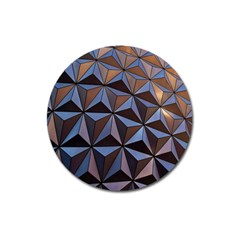 Background Geometric Shapes Magnet 3  (round)