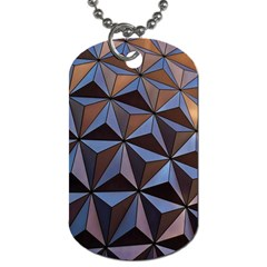 Background Geometric Shapes Dog Tag (Two Sides)