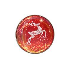 Background Reindeer Christmas Hat Clip Ball Marker (10 Pack) by Nexatart