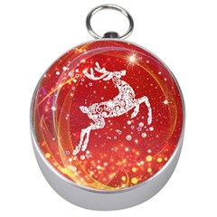 Background Reindeer Christmas Silver Compasses by Nexatart