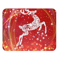 Background Reindeer Christmas Double Sided Flano Blanket (large)  by Nexatart
