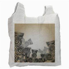 Background Retro Abstract Pattern Recycle Bag (One Side) by Nexatart