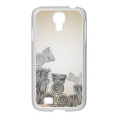 Background Retro Abstract Pattern Samsung Galaxy S4 I9500/ I9505 Case (white) by Nexatart