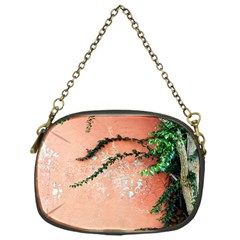 Background Stone Wall Pink Tree Chain Purses (one Side)  by Nexatart