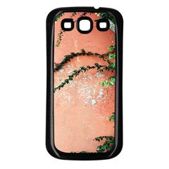 Background Stone Wall Pink Tree Samsung Galaxy S3 Back Case (black) by Nexatart