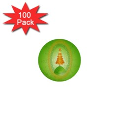 Beautiful Christmas Tree Design 1  Mini Buttons (100 Pack)  by Nexatart