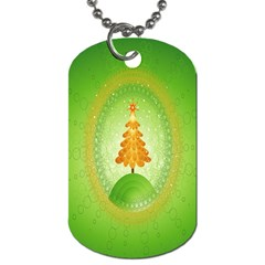 Beautiful Christmas Tree Design Dog Tag (Two Sides)