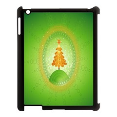Beautiful Christmas Tree Design Apple Ipad 3/4 Case (black) by Nexatart