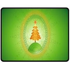 Beautiful Christmas Tree Design Double Sided Fleece Blanket (medium)  by Nexatart
