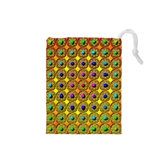 Background Tile Kaleidoscope Drawstring Pouches (small)  by Nexatart