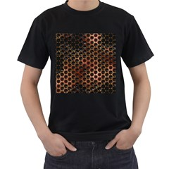 Beehive Pattern Men s T Shirt (black) (two Sided)